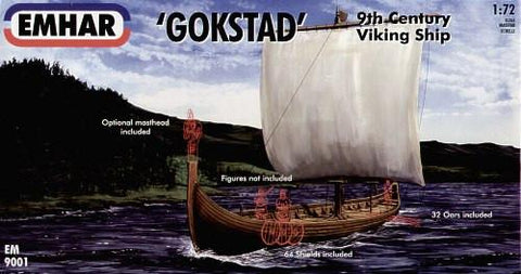 Emhar Military 1/72 9th Century Gokstad Viking Ship Kit