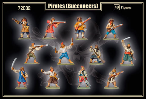 Mars Military 1/72 Pirates (Buccaneers) 1620-1660 (48) Kit