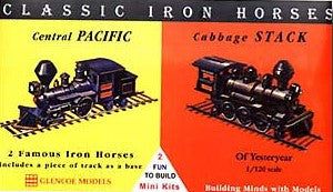 Glencoe Military 1/120 Classic Iron Horse Locos Central Pacific & Cabbage Stack Kit