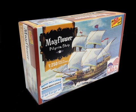 Lindberg Model Ships 1/250 Mayflower Sailing Ship Kit