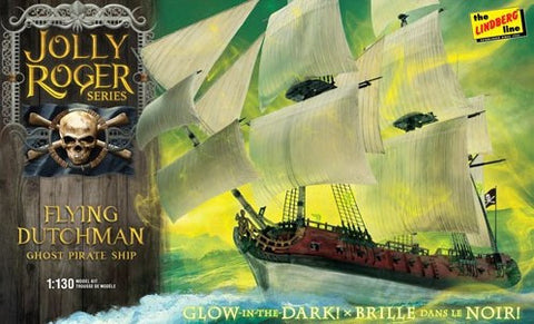 Lindberg Model Ships 1/130 Jolly Roger Glow-in-the-Dark Flying Dutchman Ghost Pirate Ship Kit
