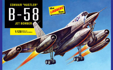 Lindberg Model Aircraft 1/64 B58 Hustler Bomber Kit