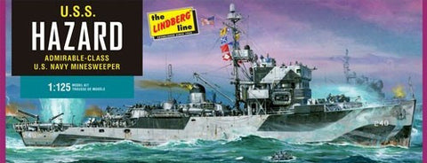 Lindberg Model Ships 1/125 USS Hazard Admirable-Class Navy Mine Sweeper Kit