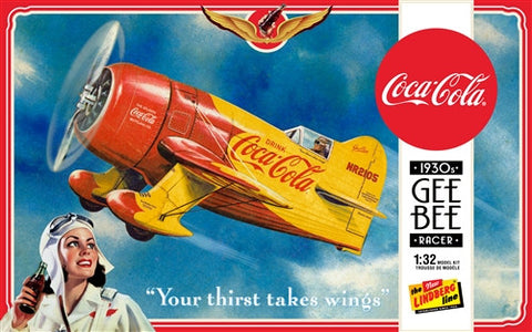 Lindberg Model Aircraft 1/32 Coca Cola Gee Bee Racer Kit