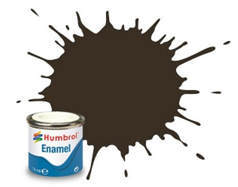 Humbrol 14ml.  Enamel Gloss Service Brown Tinlet