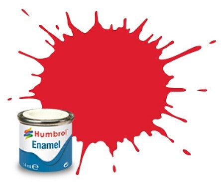 Humbrol 14ml  Enamel Gloss Bright Red Tinlet
