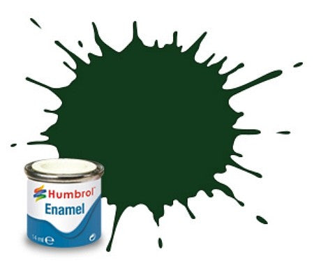 Humbrol 14ml.  Enamel Gloss Brunswick Green Tinlet