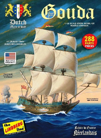 Lindberg Model Ships 1/244 Santa Catarina Portuguese Man-O-War Sailing Ship Kit