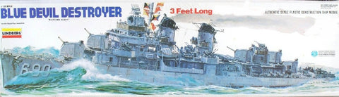 Lindberg Model Ships 1/125 Blue Devil Fletcher Class Destroyer (w/o Motor) Kit