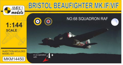 Mark I 1/144 Bristol Beaufighter Mk IF/VIF No.68 Squadron RAF Fighter Kit (w/Resin)
