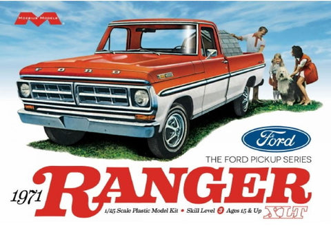 Moebius Model Cars 1/25 1971 Ford Ranger Pickup Truck Kit