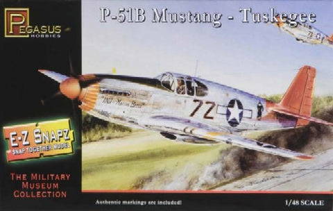 Pegasus Hobbies Aircraft 1/48 P51B Tuskegee Aircraft Snap Kit
