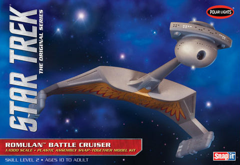 Polar Lights Sci-Fi 1/1000 Star Trek The Original Series Romulan Battle Cruiser Snap Kit