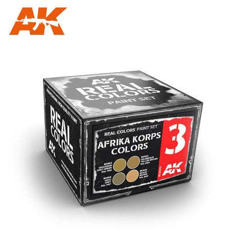 AK Interactive 	Real Colors: Afrika Korps Acrylic Lacquer Paint Set (4) 10ml Bottles