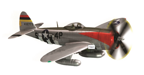 Squadron Models 1/72 P-47D Thunderbolt Pre-Painted Quick Kit