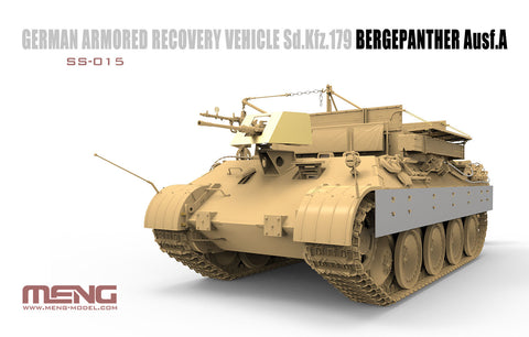 Meng Military Models 1/35 SdKfz 179 Bergepanther Ausf A German Armored Recovery Vehicle (New Tool) Kit