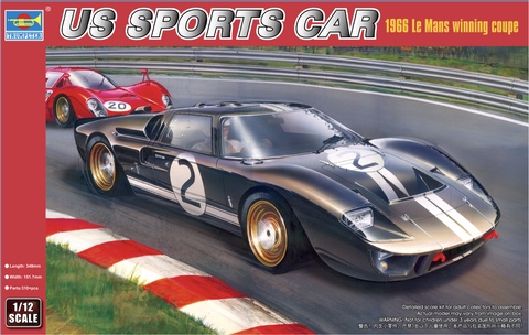 Trumpeter Model Cars 1/12 US Sports Car 1966 LeMans Winning Coupe Limited Production (Re-Issue) Kit