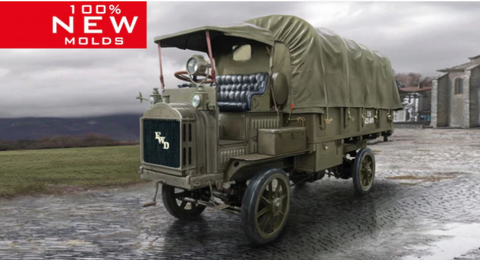 ICM Military 1/35 WWI US FWD Type B Army Truck (New Tool) Kit