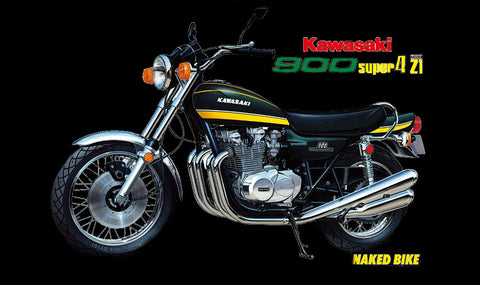 Aoshima Car Models 1/12 Kawasaki 900 Super4 Model Z1 Motorcycle Kit