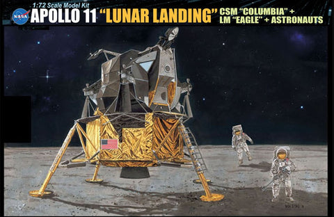 Dragon Space 1/72 NASA: Apollo 11 Lunar Landing CSM Columbia & Lunar Module Eagle (Re-Issue) Kit