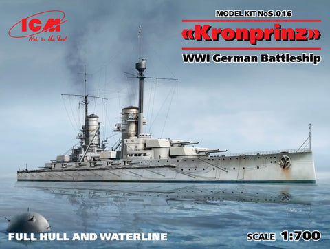 ICM Model Ships 1/700 WWI German Battleship Kronprinz Kit