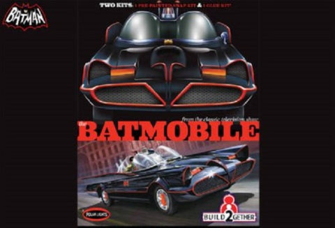 Polar Lights Clearance Sale 1/25 Batmobile 2pak Snap+Glue Kit