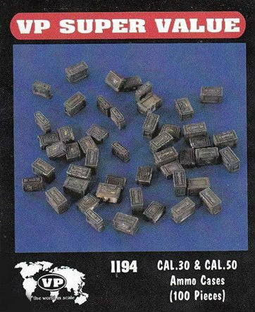 Verlinden Productopns 1/35 Cal .30 & Cal .50 Ammo Cases (100 pieces)