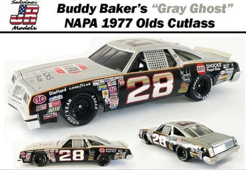 Salvinos Jr. 1/25 Buddy Baker's Gray Ghost #28 Oldsmobile 442 1980 Daytona 500 Winner Ltd. Edition Kit