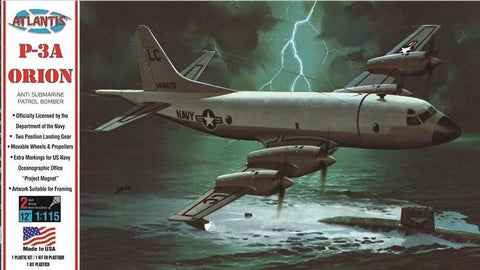 Atlantis Aircraft 1/115 P3A Orion Anti-Submarine Patrol Bomber Kit (Formerly Revell)