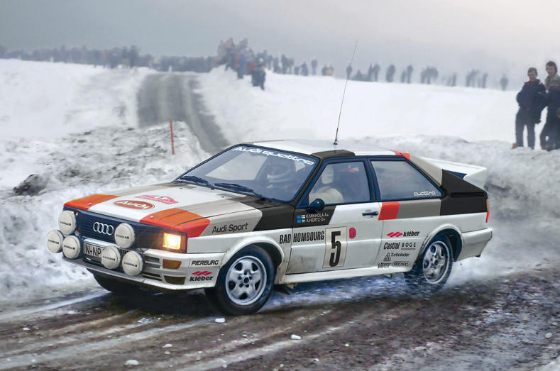 Italeri Model Cars 1/24 Audi Quattro Rally Kit