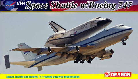Dragon Space 1/144 Visible NASA Space Shuttle Discovery w/B747-100 Shuttle Carrier Aircraft w/Cutaway Views Kit