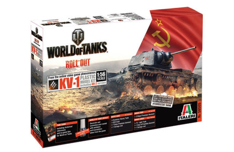 Italeri Wargame World of Tanks 1/56 KV-1/KV-2 Kit