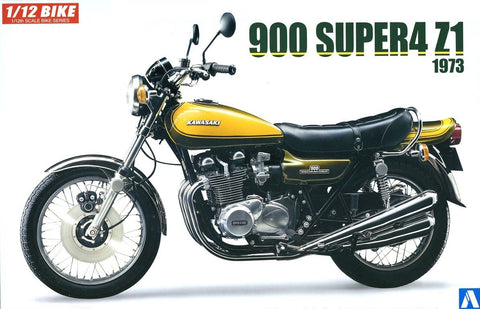 Aoshima Car Models 1/12 Kawasaki 900 Super4 Z1 1973 Model Motorcycle w/Custom Parts Kit