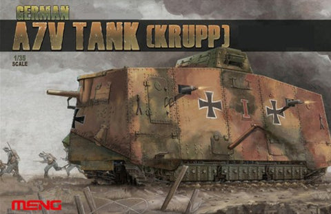 Meng Military Models 1/35 A7V (Krupp) German Tank Kit
