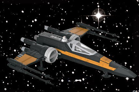 Revell-Monogram Sci-Fi 1/78 Star Wars™ Poe's Boosted X-Wing Fighter Kit