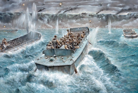 Italeri Military 1/35 LCVP w/28 US Infantry Normandy D-Day (Re-Issue) Kit