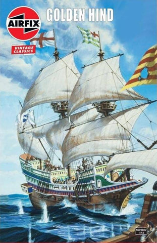 Airfix Ship Models 1/72 Golden Hind Sailing Ship (Re-Issue) Kit