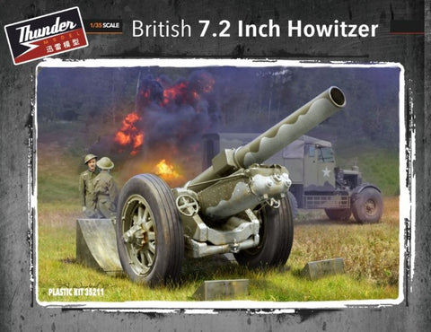 Thunder Models 1/35 British 7.2-Inch Howitzer (New Tool) Kit