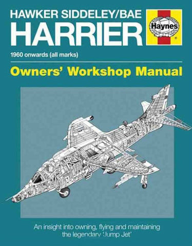 Motor Books Hawker Siddeley/BAe Harrier 1960 Onwards Owners Workshop Manual