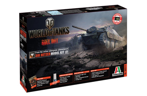 Italeri Wargame World of Tanks 1/35 38t Hetzer Kit