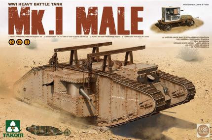 Takom Military 1/35 British WWI MK.I Male Tank Kit