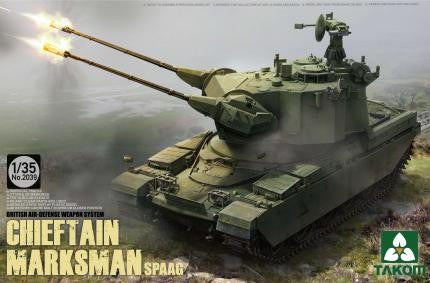 Takom Military 1/35 British Air-Defense Weapon System Chieftain Marksman SPAAG Kit