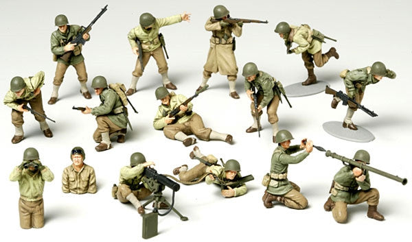 Tamiya Military 1/48 WWII US Army Infantry GI's (15 Figures) Kit