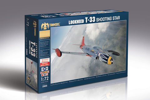 Tanmodel Aircraft 1/72 T33 Shooting Star Jet Trainer Aircraft Kit