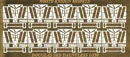 White Ensign Details 1/350 SBD3 Detail Set for 10 Aircraft Detail Set