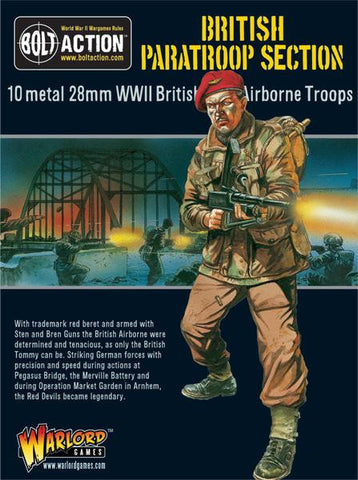 Warlord Games 28mm Bolt Action: WWII British Paratroopers (10) Metal Kit