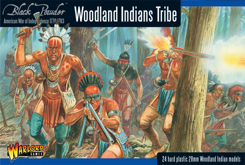 Warlord Games 28mm Black Powder: Woodland Indians Tribe 1776-1783 (24) Kit