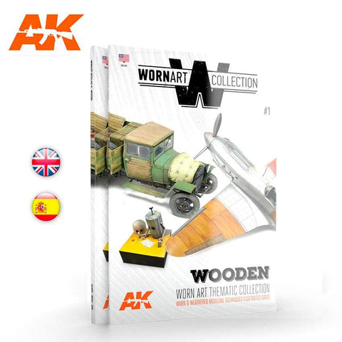 AK Interactive Books Worn Art Collection 1: Wooden Book (Semi-Hardback)