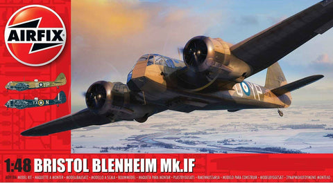 Airfix Aircraft 1/48 Bristol Blenheim Mk IF Bomber (New Tool) Kit