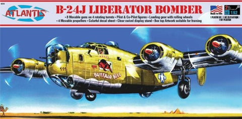 Atlantis Aircraft 1/92 B24J Liberator Buffalo Bill Bomber Kit (Formerly Revell)